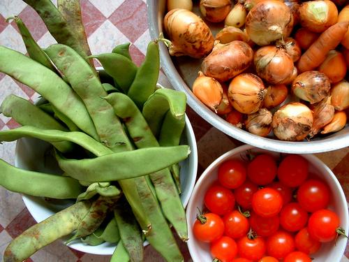 Zöldségek betakarítása